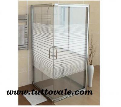Box doccia in cristallo serigrafato 70x90 - Box doccia 70x90 leroy ...